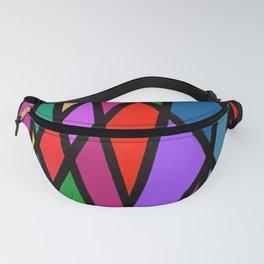 Purple Diagonals Fanny Pack