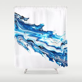 Icy Shiver Shower Curtain