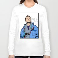 lichtenstein Long Sleeve T-shirts featuring Röyksopp Forever Roy Lichtenstein Inspired Portrait 1 by Alli Vanes