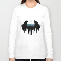 wolves Long Sleeve T-shirts featuring Wolves by Viktor Macháček
