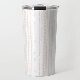 Pastel brown white bohemian arrows zigzag geometrical Travel Mug