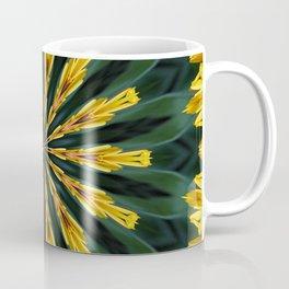 A Fanfare of Gaillardia Flowers Kaleidoscope Mandala Coffee Mug