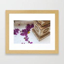 Purple pods Framed Art Print