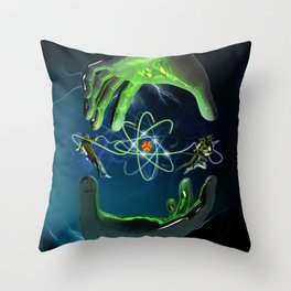 The Atom Control Throw Pillow