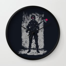 Soldier &  Rose Wall Clock