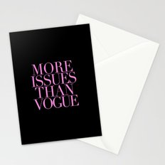 MORE ISSUES {PINK} Stationery Cards