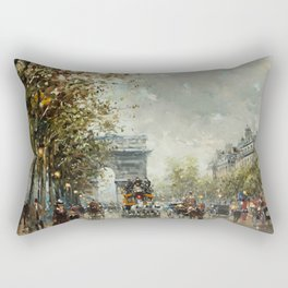 Avenue des Champs-Élysées, Paris, France by Antoine Blanchard Rectangular Pillow