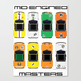 Mid-engined masters Canvas Print