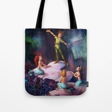 The Mermaid Lagoon-Peter Pan Tote Bag