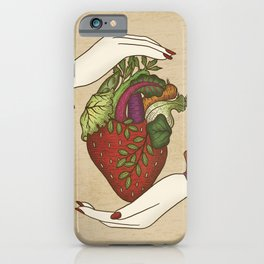 Eating is caring iPhone Case