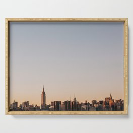 USA Photography - Sunset In New York City Serving Tray