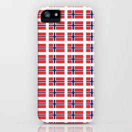flag of norway,snow,scandinavia,scandinavian, norwegian,oslo iPhone Case