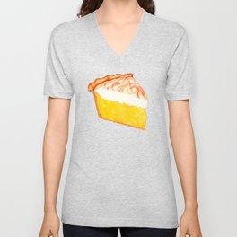 Lemon Meringue Pie Pattern Unisex V-Neck