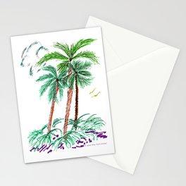 """Triplet Palms"" Stationery Cards"