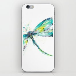 Watercolor Dragonfly iPhone Skin