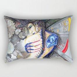 Femme moderne- modern woman future cyborg Rectangular Pillow