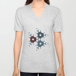 Kaleidoscope Flowers Winternight Unisex V-Neck