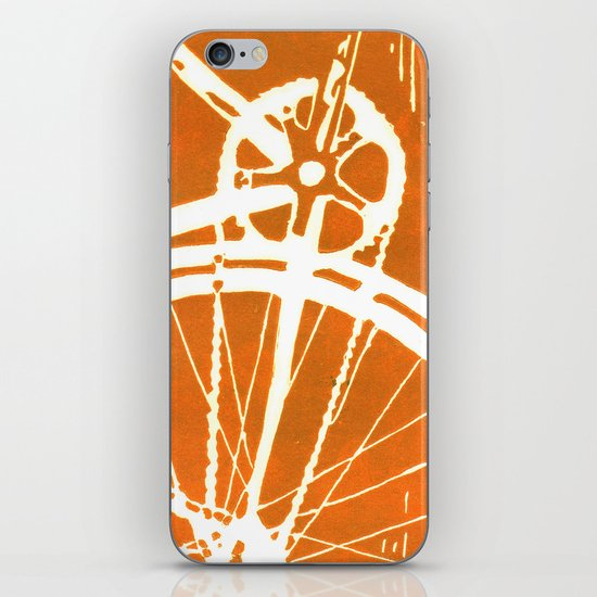 Orange Bike iPhone & iPod Skin