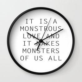 Monstrous Love Wall Clock