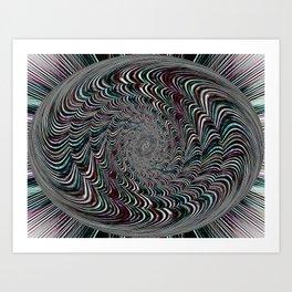 Shimmer Spin Art Print
