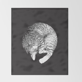 PURRFECT MOON Throw Blanket
