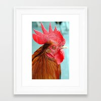 cock Framed Art Prints featuring cock by Michael Sofronski
