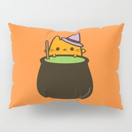 Cat bat with cauldron Pillow Sham