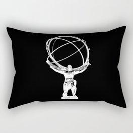 Atlas // Black Rectangular Pillow