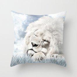 Barbary Lion Throw Pillow