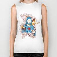 jesus Biker Tanks featuring Jesus  by Tshirt-Factory