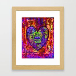 HEARTFUL OF PEACE Framed Art Print