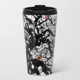 Red Birds in Snow by GEN Z Travel Mug