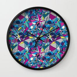 Skulls Geometric 2 Wall Clock