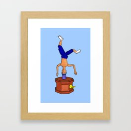 Breakdancing Music Box! Framed Art Print