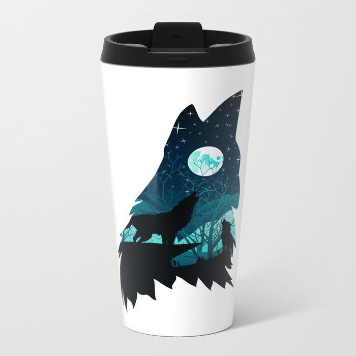 Wolf Home Metal Travel Mug
