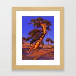 Golden Juniper Framed Art Print