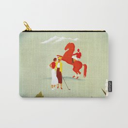 Horse riding, golf and tennis in 1920s Merano Carry-All Pouch
