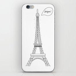 Bonjour Paris! iPhone Skin