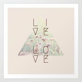 Live & Love Vintage Art Print