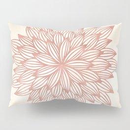 Mandala Flowery Rose Gold on Cream Pillow Sham