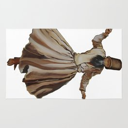Whirling Dervish Conveys God's Spiritual Gift Rug