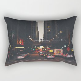 sunset in the city ... Rectangular Pillow