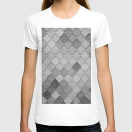 Fifty Gray Shades of Tiles (Black and White) T-shirt