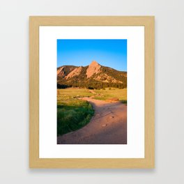 Sunrise In Boulder, Colorado With Path (Chautauqua State Park, Portrait) Framed Art Print