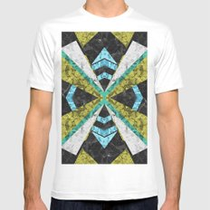 Marble Geometric Background G442 Mens Fitted Tee White MEDIUM