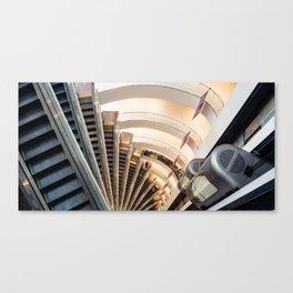 Escalators and Elevators Canvas Print