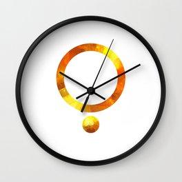 Golden Circl Wall Clock