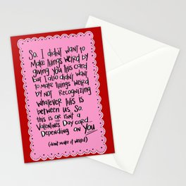 don't make it weird Stationery Cards