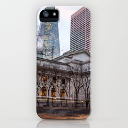 New York Public Library : old vs new buildings iPhone Case