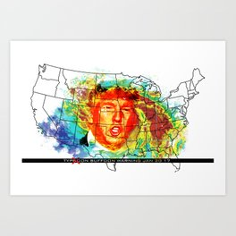 Trump Buffoon Typhoon Warning Art Print